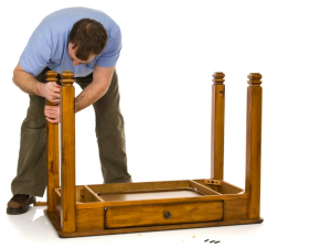 Disassemble furniture for easier storage.