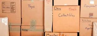 Labelling boxes will help you find your items in storage.